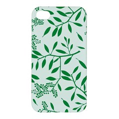 Leaves Foliage Green Wallpaper Apple Iphone 4/4s Premium Hardshell Case by Amaryn4rt