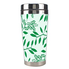 Leaves Foliage Green Wallpaper Stainless Steel Travel Tumblers by Amaryn4rt