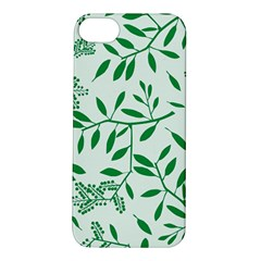 Leaves Foliage Green Wallpaper Apple Iphone 5s/ Se Hardshell Case by Amaryn4rt
