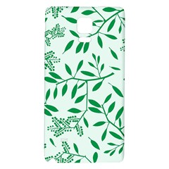 Leaves Foliage Green Wallpaper Galaxy Note 4 Back Case by Amaryn4rt