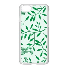 Leaves Foliage Green Wallpaper Apple Iphone 7 Seamless Case (white) by Amaryn4rt