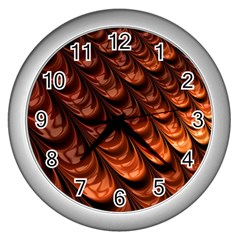 Fractal Mathematics Frax Wall Clocks (silver)  by Amaryn4rt