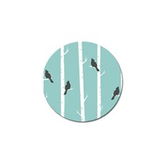 Birds Trees Birch Birch Trees Golf Ball Marker (10 Pack) by Amaryn4rt