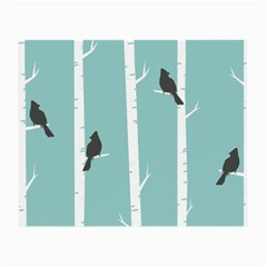 Birds Trees Birch Birch Trees Small Glasses Cloth by Amaryn4rt