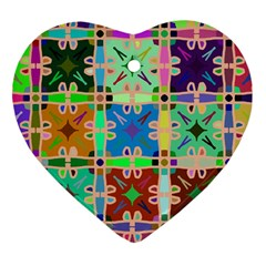 Abstract Pattern Background Design Heart Ornament (2 Sides) by Amaryn4rt