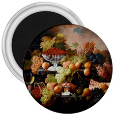 Abundance Of Fruit Severin Roesen 3  Magnets by Amaryn4rt