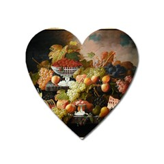 Abundance Of Fruit Severin Roesen Heart Magnet by Amaryn4rt