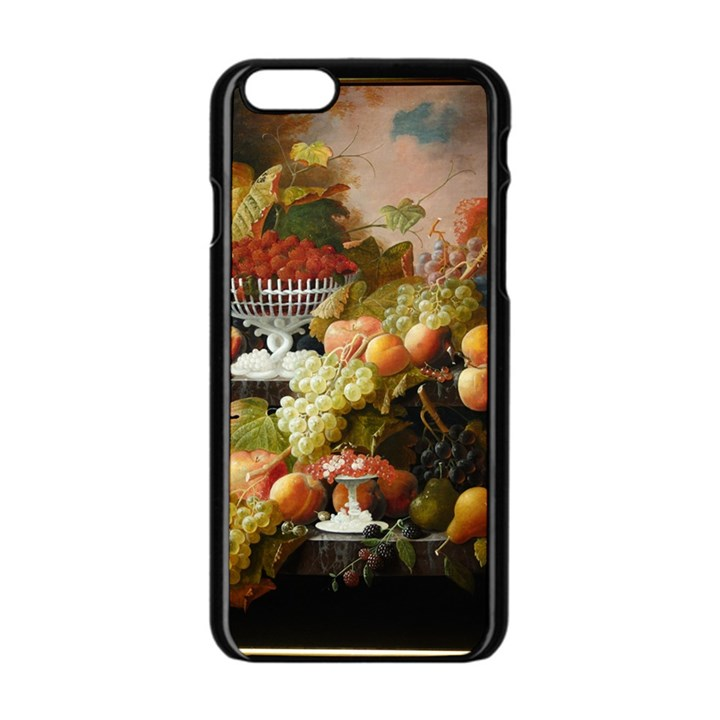 Abundance Of Fruit Severin Roesen Apple iPhone 6/6S Black Enamel Case