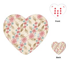 Background Page Template Floral Playing Cards (heart)