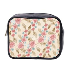 Background Page Template Floral Mini Toiletries Bag 2 Side by Amaryn4rt
