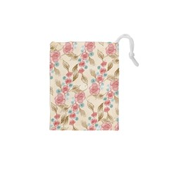 Background Page Template Floral Drawstring Pouches (xs)  by Amaryn4rt