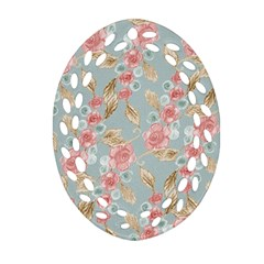 Background Page Template Floral Oval Filigree Ornament (2 Side)  by Amaryn4rt