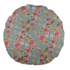 Background Page Template Floral Large 18  Premium Round Cushions