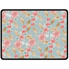Background Page Template Floral Double Sided Fleece Blanket (large)  by Amaryn4rt
