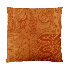 Burnt Amber Orange Brown Abstract Standard Cushion Case (two Sides) by Amaryn4rt