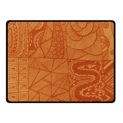 Burnt Amber Orange Brown Abstract Fleece Blanket (small) by Amaryn4rt