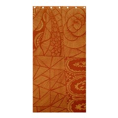 Burnt Amber Orange Brown Abstract Shower Curtain 36  X 72  (stall)