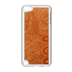 Burnt Amber Orange Brown Abstract Apple Ipod Touch 5 Case (white) by Amaryn4rt