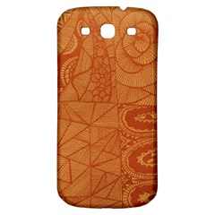 Burnt Amber Orange Brown Abstract Samsung Galaxy S3 S Iii Classic Hardshell Back Case
