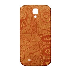 Burnt Amber Orange Brown Abstract Samsung Galaxy S4 I9500/i9505  Hardshell Back Case