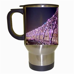 Helixbridge Bridge Lights Night Travel Mugs (white) by Amaryn4rt