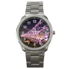 Helixbridge Bridge Lights Night Sport Metal Watch by Amaryn4rt