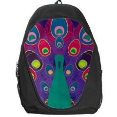 Peacock Bird Animal Feathers Backpack Bag by Amaryn4rt