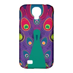 Peacock Bird Animal Feathers Samsung Galaxy S4 Classic Hardshell Case (pc+silicone) by Amaryn4rt