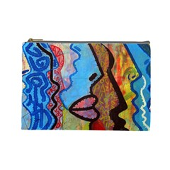 Graffiti Wall Color Artistic Cosmetic Bag (large)  by Amaryn4rt