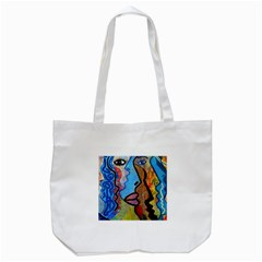 Graffiti Wall Color Artistic Tote Bag (white) by Amaryn4rt