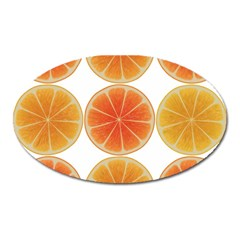 Orange Discs Orange Slices Fruit Oval Magnet by Amaryn4rt