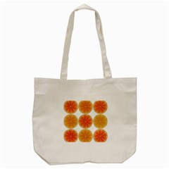 Orange Discs Orange Slices Fruit Tote Bag (cream)