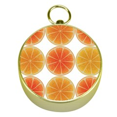 Orange Discs Orange Slices Fruit Gold Compasses by Amaryn4rt