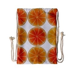 Orange Discs Orange Slices Fruit Drawstring Bag (small)
