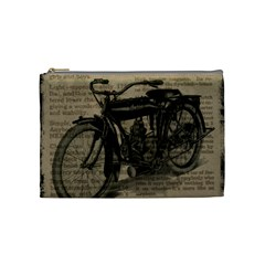 Vintage Collage Motorcycle Indian Cosmetic Bag (medium)  by Amaryn4rt