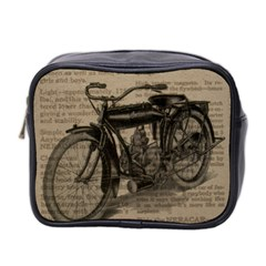 Vintage Collage Motorcycle Indian Mini Toiletries Bag 2 Side
