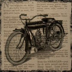 Vintage Collage Motorcycle Indian Magic Photo Cubes
