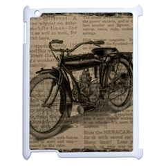 Vintage Collage Motorcycle Indian Apple Ipad 2 Case (white) by Amaryn4rt