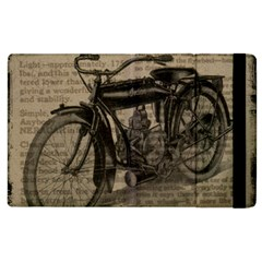 Vintage Collage Motorcycle Indian Apple Ipad 2 Flip Case by Amaryn4rt