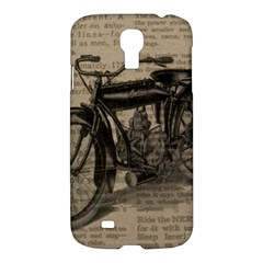 Vintage Collage Motorcycle Indian Samsung Galaxy S4 I9500/i9505 Hardshell Case by Amaryn4rt