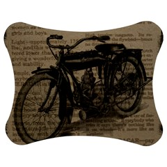 Vintage Collage Motorcycle Indian Jigsaw Puzzle Photo Stand (bow) by Amaryn4rt
