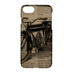 Vintage Collage Motorcycle Indian Apple Iphone 7 Hardshell Case by Amaryn4rt
