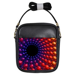 Fractal Mathematics Abstract Girls Sling Bags by Amaryn4rt