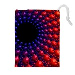 Fractal Mathematics Abstract Drawstring Pouches (Extra Large) Front
