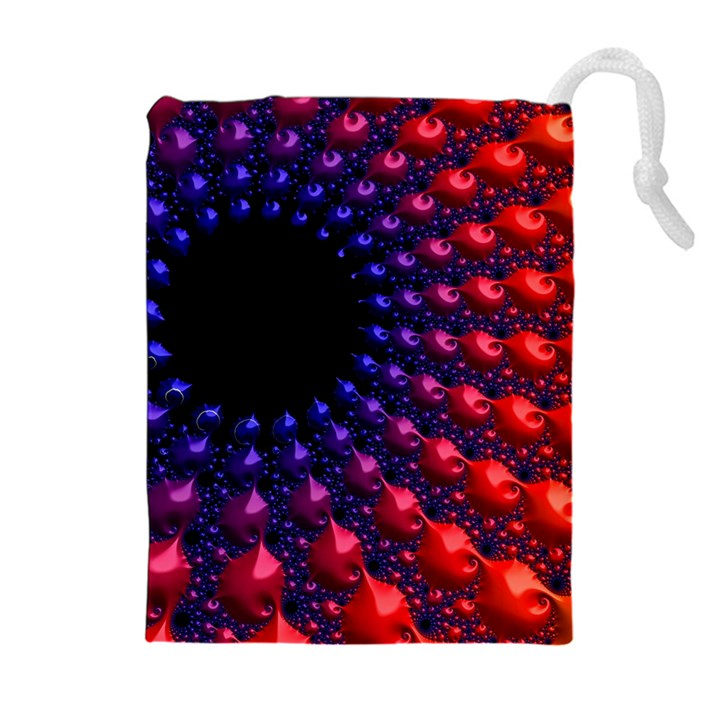 Fractal Mathematics Abstract Drawstring Pouches (Extra Large)