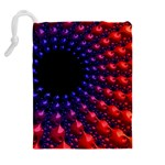 Fractal Mathematics Abstract Drawstring Pouches (Extra Large) Back