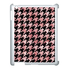 Houndstooth1 Black Marble & Red & White Marble Apple Ipad 3/4 Case (white) by trendistuff