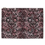 DAMASK2 BLACK MARBLE & RED & WHITE MARBLE (R) Cosmetic Bag (XXL) Front