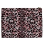 DAMASK2 BLACK MARBLE & RED & WHITE MARBLE (R) Cosmetic Bag (XXL) Back
