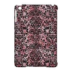 Damask2 Black Marble & Red & White Marble (r) Apple Ipad Mini Hardshell Case (compatible With Smart Cover) by trendistuff
